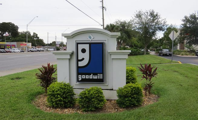 Monument sign - Goodwill
