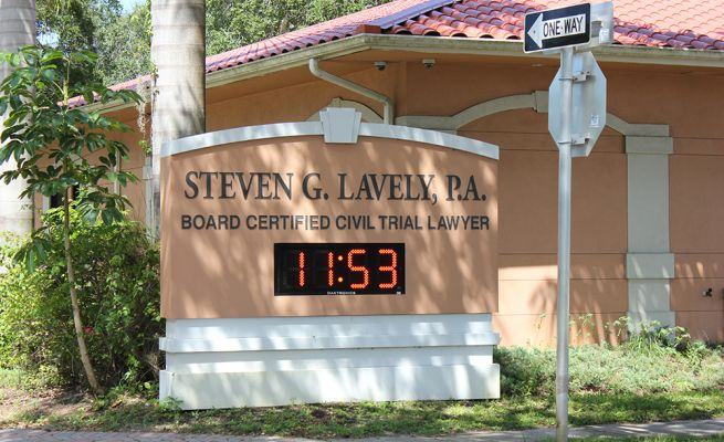 Monument sign - Steven G. Lavely, P.A.