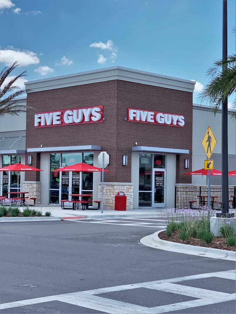 Five Guys Restaurant Channel Letter Sign