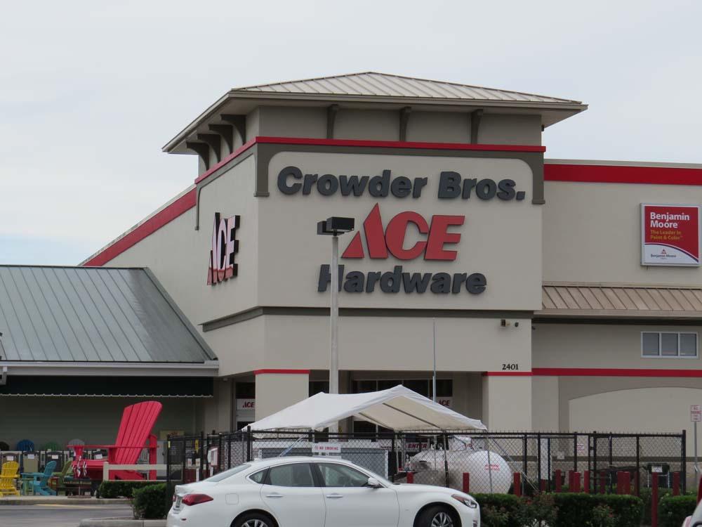 Storefront Signs - Crowder Bros. Ace Hardware