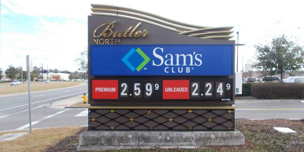 Outdoor Business Signs - Sams Club